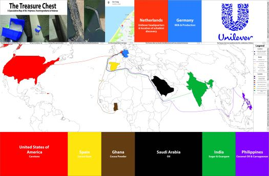 The Treasure Chest; A speculative map of Oil, Polymers, Food ingredients & Violence smaller